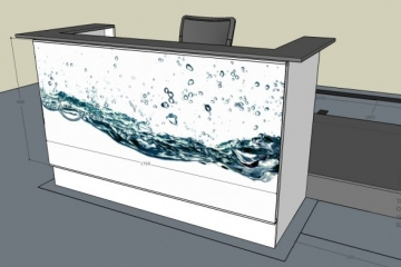 Balie V2 Totaalbeeld met Water Afbeelding
